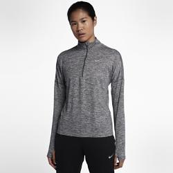 Женская беговая футболка с длинным рукавом Nike ElementЖенская беговая футболка с длинным рукавом Nike Element идеально подходит для пробежек в прохладную погоду, сохраняя тепло и препятствуя перегреву. Более свободный кройосновы и области подмышек позволяет надевать модель поверх майки, а отверстия для больших пальцев на манжетах обеспечивают дополнительный комфорт.  Охлаждение  Более открытое плетение в верхней части спины повышает воздухопроницаемость. Молния до середины груди позволяет регулировать уровень вентиляции, обеспечивая защиту на пробежке и после нее.  Комфорт  Отверстия для больших пальцев фиксируют рукава для дополнительной защиты в холодную погоду.  Отведение влаги  Мягкая ткань с технологией Dri-FIT отводит влагу от кожи на поверхность ткани, где она быстро испаряется.<br>