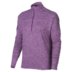 Женская беговая футболка с длинным рукавом Nike ElementЖенская беговая футболка с длинным рукавом Nike Element идеально подходит для утренних и вечерних пробежек, сохраняя тепло и препятствуя перегреву. Более свободный кройосновы и области подмышек отлично сочетается с другими предметами одежды. Обновленная конструкция отверстий для больших пальцев позволяет зарывать отверстия, когда они не используются.<br>