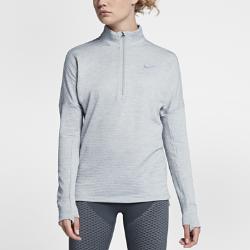 Женская беговая футболка с длинным рукавом Nike Therma Sphere ElementЖенская беговая футболка с длинным рукавом Nike Therma Sphere Element обеспечивает тепло и комфорт на пробежках в холодное время года. Свободный крой создает дополнительное пространство для свободы движений. Модель удобно надевать поверх майки или футболки.  Создано для комфорта  Отверстия для больших пальцев позволяют зафиксировать рукава, а вшитые варежки защищают руки от холода.  Тепло и комфорт  Мягкая, напоминающая флис ткань Nike Therma Sphere удерживает тепло тела. Ткань с технологией Dri-FIT отводит влагу от кожи, обеспечивая комфорт.  Универсальность  Молния до середины груди позволяет регулировать вентиляцию. Воротник на молнии помогает создать стильный образ для пробежек и повседневной жизни.<br>