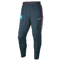Мужские футбольные брюки Atletico de Madrid Dri-FIT SquadМужские футбольные брюки Atletico de Madrid Dri-FIT Squad из эластичной влагоотводящей ткани обеспечивают комфорт и свободу движений во время тренировок.<br>