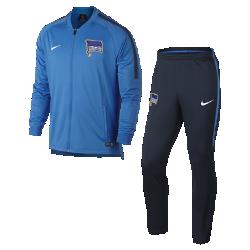 Мужской футбольный костюм Hertha BSC Dry SquadМужской футбольный костюм Hertha BSC Dry Squad из влагоотводящей ткани с фирменными деталями обеспечивает комфорт.<br>
