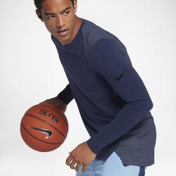 Мужская баскетбольная футболка с длинным рукавом Nike Dry Hyper EliteМужская баскетбольная футболка Nike Dry Hyper Elite с длинными рукавами и плотно прилегающими манжетами обеспечивает комфорт и помогает сохранять концентрацию во время игры.  Надежная посадка  Манжеты с фиксированной посадкой позволяют ни на что не отвлекаться во время игры.  Отведение влаги  Ткань Nike Dry с технологией Dri-FIT обеспечивает комфорт, отводя влагу на поверхность ткани, где она быстро испаряется.  Комфорт и прохлада  Сетка на спине обеспечивает охлаждение во время интенсивной игры.<br>