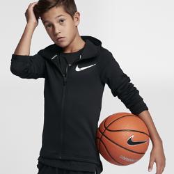 Баскетбольная худи для мальчиков школьного возраста Nike Therma Flex ShowtimeБаскетбольная худи для мальчиков школьного возраста Nike Therma Flex Showtime из эластичной ткани обеспечивает тепло и комфорт, помогая полностью сконцентрироваться на игре.<br>