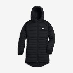 Парка с наполнителем для мальчиков школьного возраста Nike SportswearПарка с наполнителем для мальчиков школьного возраста Nike Sportswear из водоотталкивающей ткани рипстоп отлично защищает от дождя. Легкий теплоизолирующий наполнительобеспечивает тепло в холодную погоду.<br>