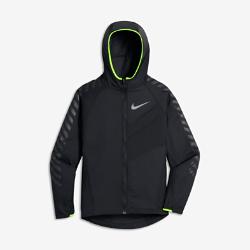 Беговая куртка для мальчиков школьного возраста Nike Impossibly LightБеговая куртка для мальчиков школьного возраста Nike Impossibly Light из прочной ткани рипстоп со складной конструкцией обеспечивает защиту в переменчивую погоду.<br>