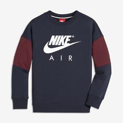 Свитшот с длинным рукавом для мальчиков школьного возраста Nike AirСвитшот с длинным рукавом для мальчиков школьного возраста Nike Air из флиса с обратным начесом обеспечивает комфорт на весь день.<br>
