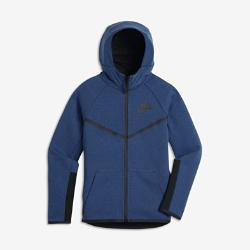 Худи с молнией во всю длину для мальчиков школьного возраста Nike Sportswear Tech Fleece WindrunnerХуди с молнией во всю длину для мальчиков школьного возраста Nike Sportswear Tech Fleece Windrunner обеспечивает тепло и комфорт благодаря инновационной ткани и большому капюшону.<br>