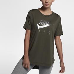 Женская футболка с коротким рукавом Nike Sportswear AirЖенская футболка с коротким рукавом Nike Sportswear Air из чистого хлопка со свободным кроем обеспечивает первоклассный комфорт и отлично сочетается с другой одеждой.<br>