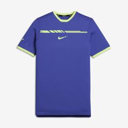 Футболка для мальчиков школьного возраста NikeCourt Rafa ChallengerФутболка для тренинга для мальчиков школьного возраста NikeCourt Rafa Challenger из сетки с технологией Dri-FIT обеспечивает комфорт и вентиляцию во время тренировки и игры.<br>