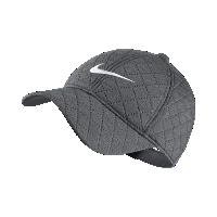 <ナイキ(NIKE)公式ストア> ナイキ ヘリテージ 86 キルテッド ウィメンズ アジャスタブル ゴルフキャップ 856295-010 ブラック画像
