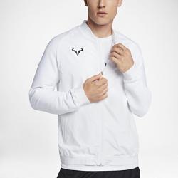 Мужская теннисная куртка NikeCourt RafaМужская теннисная куртка NikeCourt Rafa с водоотталкивающим покрытием — идеальная модель для разогрева перед матчем на открытом воздухе.<br>