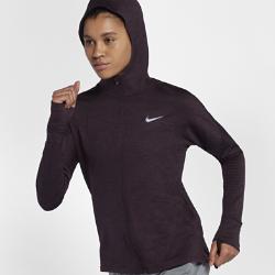 Женская беговая худи Nike Therma Sphere ElementЖенская беговая худи Nike Therma Sphere Element обеспечивает тепло и комфорт на пробежках в холодное время года. Свободный крой создает дополнительное пространство для свободы движений. Модель удобно надевать поверх майки или футболки.  Создано для комфорта  Манжеты с отверстиями для больших пальцев позволяют зафиксировать рукава, а вшитые варежки защищают руки от холода.  Тепло и комфорт  Мягкая, напоминающая флис ткань Nike Therma Sphere удерживает тепло тела. Ткань с технологией Dri-FIT отводит влагу от кожи, обеспечивая комфорт.  Универсальность  Молния во всю длину спереди позволяет регулировать вентиляцию. «Водолазный» капюшон защищает от холода, когда это необходимо.<br>