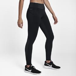Женские беговые тайтсы Nike Shield 71 смЖенские беговые тайтсы Nike Shield обеспечивают комфорт в любую погоду. Вставки из влагонепроницаемого материала сохраняют тепло и позволяют ни на что не отвлекаться во время бега.  Защищает от ветра и дождя  Ткань Nike Shield защищает от ветра и дождя. Она используется в верхней части штанин спереди для защиты от ветра и дождя. А в нижней части штанин сзади она обеспечивает защиту от брызг.  Абсолютный комфорт  Широкий пояс с подкладкой из флиса обеспечивает комфорт. Внутренний шнурок можно затянуть для надежной посадки во время бега.  Надежное хранение важных мелочей  Карман на молнии на поясе сзади защищает содержимое от влаги и по размеру подходит для телефона. Плоский бегунок молнии не мешает при выполнении упражнений на спине.Два дополнительных кармана на поясе (слева спереди и справа сзади) для ключей и наличных.<br>