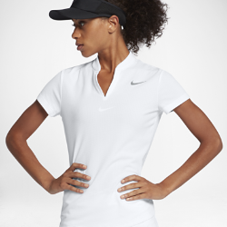 Женская рубашка-поло для гольфа Nike AeroReactЖенская рубашка-поло для гольфа Nike AeroReact создана с применением особой технологии для вентиляции и комфорта.<br>