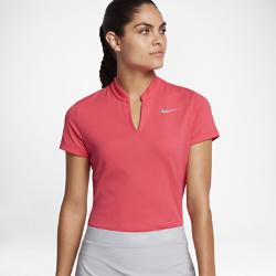 Женская рубашка-поло для гольфа Nike AeroReactЖенская рубашка-поло для гольфа Nike AeroReact из адаптивного материала усиливает вентиляцию во время игры и удерживает тепло во время заминки для абсолютного комфорта.<br>