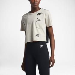 Женская укороченная футболка с коротким рукавом Nike Sportswear AirЖенская укороченная футболка с коротким рукавом Nike Sportswear Air из мягкой ткани с современным силуэтом обеспечивает длительный комфорт.<br>