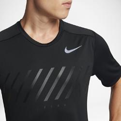 Мужская беговая футболка с коротким рукавом Nike MilerМужская беговая футболка Nike Miler из влагоотводящей ткани со вставками из сетки обеспечивает охлаждение и комфорт во время бега. Стандартная посадка позволяет сочетать модель с другими элементами одежды для тренировок.<br>