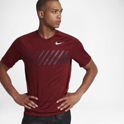 Мужская беговая футболка Nike MilerМужская беговая футболка Nike Miler из влагоотводящей ткани со вставками из сетки обеспечивает охлаждение и комфорт во время бега.<br>