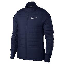 Мужская беговая куртка Nike Essential FilledМужская беговая куртка Nike Essential Filled позволяет продолжать пробежки даже в холодную и дождливую погоду. Легкий наполнитель, водоотталкивающее покрытие и ткань Nike Therma обеспечивают комфорт на любой дистанции. Благодаря высокой горловине куртку можно надевать поверх футболки.  Комфорт даже в дождь  Лицевая часть из легкого тканого материала с водоотталкивающим покрытием для защиты от дождя.  Тепло  Наполнитель из полиэстера надежно защищает от холода, не создавая лишнего объема. Вставки из ткани Nike Therma на спине и по бокам удерживают тепло тела. Невероятно мягкая ткань с начесом.  Надежное хранение важных мелочей  В карманы на молнии можно положить телефон, пластиковые карты и ключи. Дополнительный карман на изнаночной стороне позволяет надежно хранить еще больше ценных мелочей.<br>