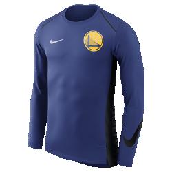 Мужская футболка НБА с длинным рукавом Golden State Warriors Nike Hyper EliteМужская футболка НБА с длинным рукавом Golden State Warriors Nike Hyper Elite обеспечивает охлаждение в самые жаркие моменты игры и не сковывает движений во время тренировки и разминки. Отведение влаги Трикотажная ткань с технологией Dri-FIT отводит влагу для комфорта. Свобода движений Расположенные под углом плечевые швы, боковые кромки с разрезами, удлиненная сзади нижняя кромка и манжеты особой формы для полной свободы движений. Комфорт и прохлада Сетка на спине для охлаждения. Информация о товаре  Состав: 100% полиэстер Машинная стирка Импорт<br>