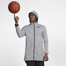 Мужская баскетбольная куртка Nike ProtectМужская баскетбольная куртка Nike Protect обеспечивает защиту от влаги, тепло и комфорт благодаря водоотталкивающей ткани и удлиненному силуэту.<br>