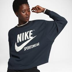 Женский свитшот Nike SportswearЖенский свитшот Nike Sportswear из мягкой ткани со свободным кроем обеспечивает комфорт.<br>
