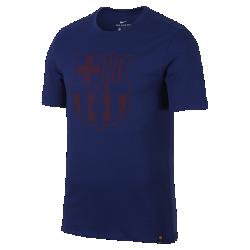 Мужская футболка FC Barcelona CrestМужская футболка FC Barcelona Crest из мягкого хлопка обеспечивает длительный комфорт на трибунах и на улице.<br>