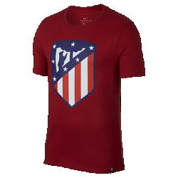 Мужская футболка Atletico de Madrid CrestМужская футболка Atletico de Madrid Crest из мягкого хлопка обеспечивает длительный комфорт на трибунах и на улице.<br>