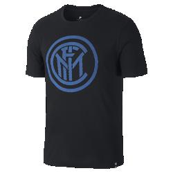 Мужская футболка Inter Milan CrestМужская футболка Inter Milan Crest из мягкого хлопка обеспечивает длительный комфорт на трибунах и на улице.<br>