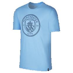 Мужская футболка Manchester City FC CrestМужская футболка Manchester City FC Crest из мягкого хлопка обеспечивает длительный комфорт на трибунах и на улице.<br>