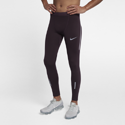 Мужские беговые тайтсы Nike TechМужские беговые тайтсы Nike Tech из сверхэластичной поддерживающей ткани со вставками из сетки обеспечивают охлаждение во время бега.<br>