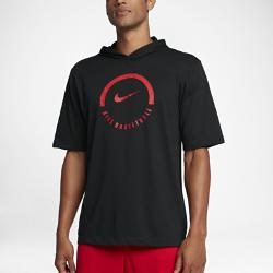 Мужская баскетбольная футболка с капюшоном Nike DryМужская баскетбольная футболка с капюшоном Nike Dry из влагоотводящей ткани с фирменными элементами обеспечивает комфорт во время игры.<br>