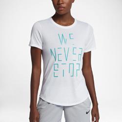 """Женская баскетбольная футболка Nike Dry """"We Never Stop""""Женская баскетбольная футболка Nike Dry """"We Never Stop"""" из влагоотводящей ткани обеспечивает комфорт во время игры.<br>"""