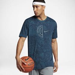 Мужская баскетбольная футболка Nike DryМужская баскетбольная футболка Nike Dry из влагоотводящей ткани обеспечивает комфорт во время игры.<br>