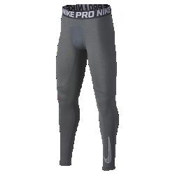 Тайтсы для тренинга для мальчиков школьного возраста Nike ProТайтсы для тренинга для мальчиков школьного возраста Nike Pro из влагоотводящей ткани со вставками из сетки обеспечивают комфорт и вентиляцию. Их можно носить в качестве самостоятельного элемента на тренировках или базового слоя на соревнованиях.<br>