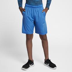 Шорты для тренинга с графикой для мальчиков школьного возраста Nike Dri-FIT 20,5 смШорты для тренинга с графикой для мальчиков школьного возраста Nike Dri-FIT 20,5 см из влагоотводящей ткани обеспечивают комфорт во время тренировок и игр.<br>