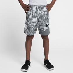 Шорты для тренинга с принтом для мальчиков школьного возраста Nike Dry VentШорты для тренинга с принтом для мальчиков школьного возраста Nike Dry Vent из влагоотводящей ткани со вставками из сетки обеспечивают охлаждение и комфорт на весь день.<br>
