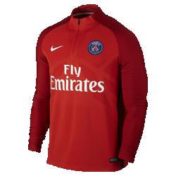 Мужская игровая футболка Paris Saint-Germain AeroSwift Strike DrillМужская игровая футболка Paris Saint-Germain AeroSwift Strike Drill из дышащей эластичной ткани обеспечивает охлаждение, позволяя не снижать скорость во время игры.<br>