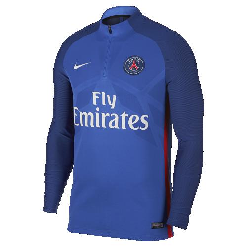 パリ サンジェルマン エアロスイフト ストライク ドリル メンズ サッカートップ 858310-440 ブルー <セール商品がさらに20%OFF!5/8まで>