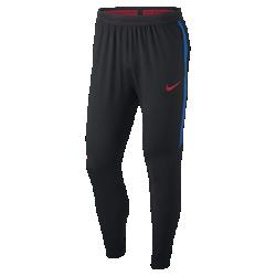 Мужские футбольные брюки Nike Flex FC Barcelona StrikeМужские футбольные брюки Nike Flex FC Barcelona Strike из дышащей эластичной ткани обеспечивают свободу движений на поле и за его пределами.<br>