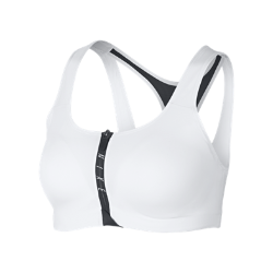Спортивное бра со средней поддержкой Nike ZipСпортивное бра со средней поддержкой Nike Zip из мягкой влагоотводящей ткани со вшитыми стабилизаторами обеспечивает комфорт и поддержку на каждой тренировке.<br>