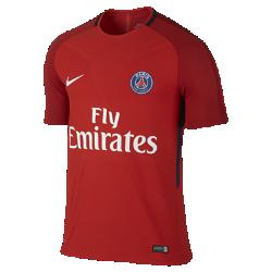Мужская игровая футболка Paris Saint-Germain StrikeМужская игровая футболка Paris Saint-Germain Strike создана по технологии Nike AeroSwift: сочетание высококачественной влагоотводящей ткани и специальной конструкции помогают развить максимальную скорость на поле.<br>