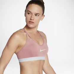 Спортивное бра с легкой поддержкой Nike Indy CoolingСпортивное бра с легкой поддержкой Nike Indy Cooling из эластичной влагоотводящей ткани обеспечивает поддержку и комфорт во время занятий низкой интенсивности, таких какходьба, тренировки с отягощением и йога.<br>