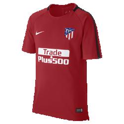 Игровая футболка для школьников Atletico de Madrid Breathe SquadИгровая футболка для школьников Atletico de Madrid Breathe Squad из влагоотводящей ткани с сетчатой вставкой на спине обеспечивает вентиляцию и комфорт на поле и за его пределами.<br>