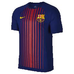 Мужская футболка FC Barcelona Dry MatchМужская футболка FC Barcelona Dry Match из мягкой влагоотводящей ткани украшена клубными деталями.<br>