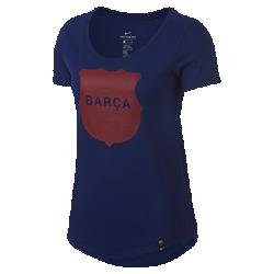 Женская футболка FC Barcelona SquadЖенская футболка FC Barcelona Squad из мягкого хлопка обеспечивает длительный комфорт на трибунах и на улице.<br>
