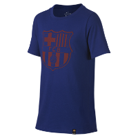 <ナイキ(NIKE)公式ストア> FC バルセロナ クレスト ジュニア Tシャツ 859192-410 ブルー画像