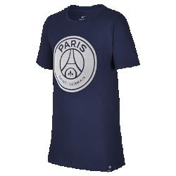 Футболка для школьников Paris Saint-Germain CrestФутболка для школьников Paris Saint-Germain Crest с клубной символикой на мягкой хлопковой ткани отдает дань уважения любимой команде.<br>