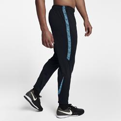 Мужские футбольные брюки Nike Dri-FIT SquadМужские футбольные брюки Nike Dri-FIT Squad из эластичной влагоотводящей ткани с зауженным кроем обеспечивают свободу движений.  КОМФОРТ  Ткань Nike Dry отводит влагу от кожи на поверхность, где она быстро испаряется.  СВОБОДА ДВИЖЕНИЙ  Эластичная ткань не ограничивает естественную свободу движений при беге, рывках и ударах.  НАДЕЖНАЯ ПОСАДКА  Кант из рубчатой ткани по внутренней стороне пояса фиксирует брюки во время движения.<br>