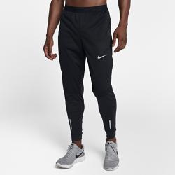 Мужские беговые брюки Nike Shield Phenom 73 смСозданные специально для холодной погоды мужские беговые брюки Nike Shield Phenom обеспечивают тепло и комфорт во время пробежек и на каждый день. Это сочетание влагонепроницаемых эластичных материалов, удерживающих тепло для комфорта во время движения.  Защита от ветра и дождя  Спереди в верхней части расположен слой ткани Nike Shield. Он защищает от ветра и дождя во время бега, позволяя сохранять комфорт и тепло для высоких результатов.  Тепло  Подкладка из ткани Nike Therma Sphere расположена в верхней части спереди. Мягкая ткань, похожая на флис, удерживает тепло и обеспечивает комфорт.  Свобода движений  Эластичная ткань от коленей до отворотов и на пояснице для свободы движений. Мягкость и легкость для невероятного комфорта.<br>